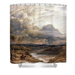 Sun Behind Clouds Shower Curtain by John Linnell