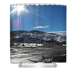 Sun On Ice Shower Curtain by Adam Cornelison