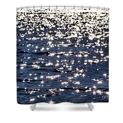 Sun Sparkle On Blue Waters Shower Curtain