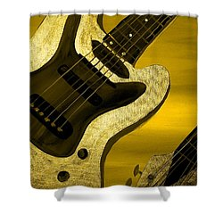 Sun Stained Yellow Electric Guitar Shower Curtain by Mark Moore