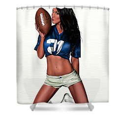 Sunday Night Shower Curtain by Pete Tapang