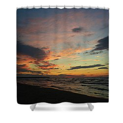 Shower Curtain featuring the photograph Sundown  by Barbara McMahon