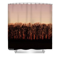Shower Curtain featuring the photograph Sundown In Silhouette by Rachel Cohen