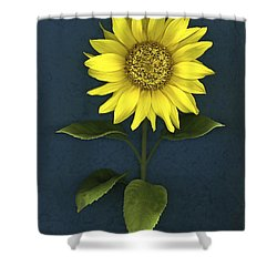 Sunflower Shower Curtain by Deddeda