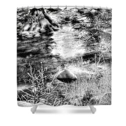 Sunlight In The Springtime Mountains Shower Curtain