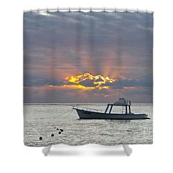 Sunrise - Puerto Morelos Shower Curtain by Sean Griffin