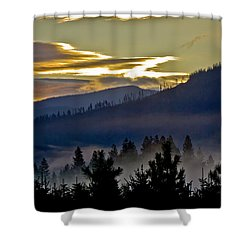 Shower Curtain featuring the photograph Sunrise And Valley Fog by Albert Seger