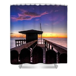Sunrise Angel Shower Curtain by Debra and Dave Vanderlaan