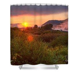 Sunrise At Snake River Shower Curtain