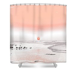 Pastel Sunrise Beach Shower Curtain by Tom Wurl