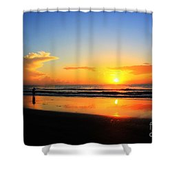 Sunrise Couple Shower Curtain by Dan Stone