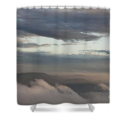 Shower Curtain featuring the photograph Sunrise In The Mountains by Jeannette Hunt