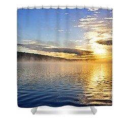 Sunrise On Foggy Lake Shower Curtain
