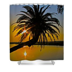 Shower Curtain featuring the photograph Sunrise On The Loop by Alice Gipson