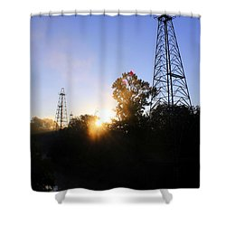 Sunrise On The Sabine Shower Curtain
