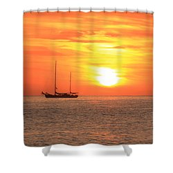 Sunrise On The Sea Of Cortez Shower Curtain by Roupen  Baker