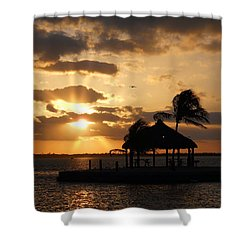 Shower Curtain featuring the photograph Sunrise Over Bay by Clara Sue Beym