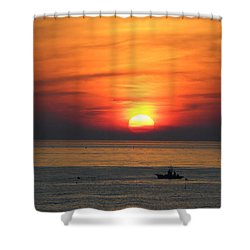 Sunrise Over Gyeng-po Sea Shower Curtain by Kume Bryant
