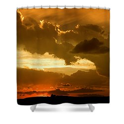 Sunset After The Storm Shower Curtain by Ellen Heaverlo