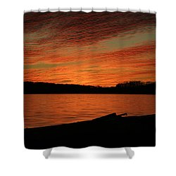 Sunset And Kayak Shower Curtain