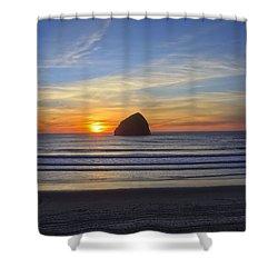 Sunset At Cape Kiwanda Oregon Shower Curtain