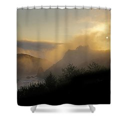 Sunset At Harris Beach Shower Curtain by Mick Anderson