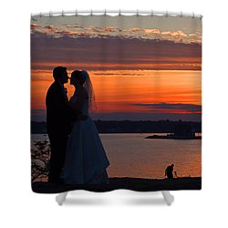 Sunset At Night A Wedding Delight Shower Curtain
