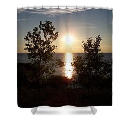Sunset At The Point Shower Curtain