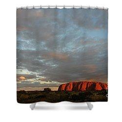 Sunset At Uluru Shower Curtain by Vivian Christopher