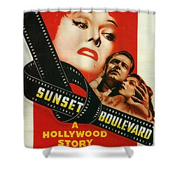 Sunset Boulevard Shower Curtain by Georgia Fowler