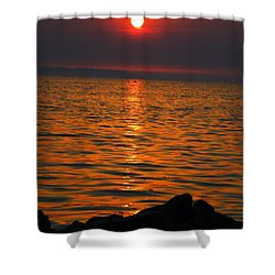 Shower Curtain featuring the photograph Sunset by Colette V Hera  Guggenheim