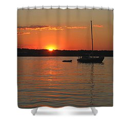 Shower Curtain featuring the photograph Sunset Cove by Clara Sue Beym