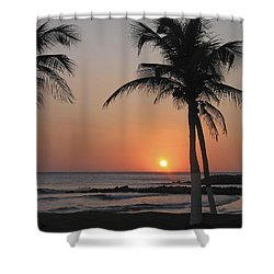 Shower Curtain featuring the photograph Sunset by David Gleeson