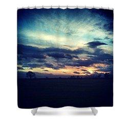 Sunset Drama Shower Curtain by Vicki Field