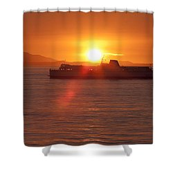 Sunset Shower Curtain by Eunice Gibb