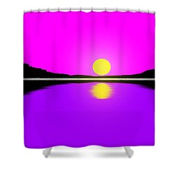 Sunset Shower Curtain by George Pedro