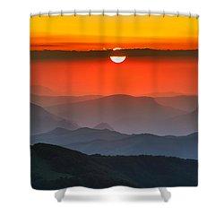 Sunset In Balkans Shower Curtain