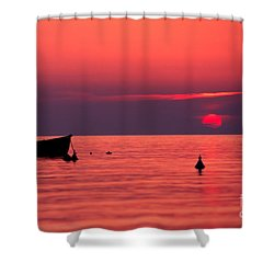 Shower Curtain featuring the photograph Sunset In Elba Island by Luciano Mortula