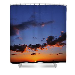 Sunset In Ithaca New York Shower Curtain by Paul Ge
