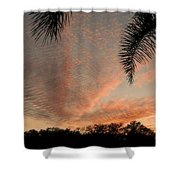 Sunset In Lace Shower Curtain