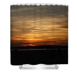 Shower Curtain featuring the photograph Sunset In Pastels by Fotosas Photography