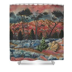 Sunset In The Cheatgrass Shower Curtain by Dawn Senior-Trask