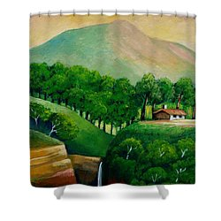 Sunset In The Mountain Shower Curtain