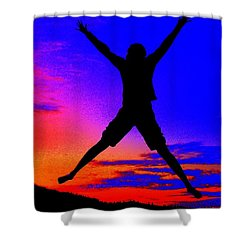 Shower Curtain featuring the photograph Sunset Jubilation by Patrick Witz