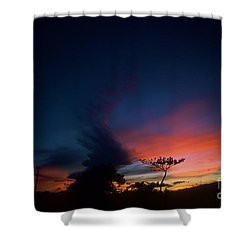 Sunset Leeward Oahu Shower Curtain