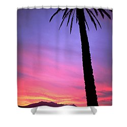 Shower Curtain featuring the photograph Sunset by Luciano Mortula