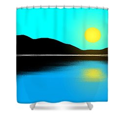 Sunset No. 2 Shower Curtain by George Pedro
