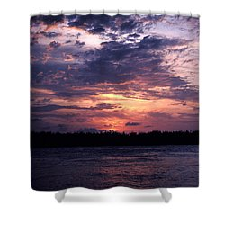 Sunset Off Mallory Square 14s Shower Curtain by Gerry Gantt