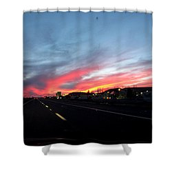 Sunset On Route 66 Shower Curtain