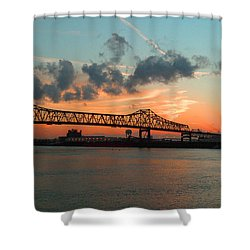 Sunset On The Mississippi  Shower Curtain by Lydia Holly
